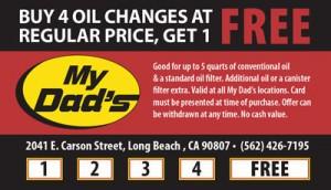 Oil Change Card